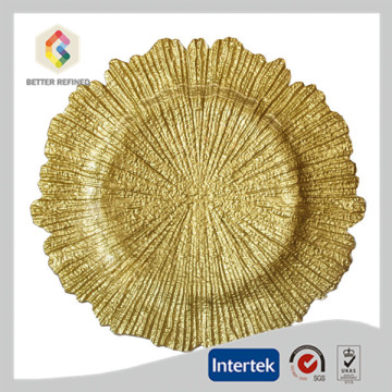 OEM for Gold Charger Plates Elegant Gold Reef Charger Plate Wholesale supply to Afghanistan Manufacturers
