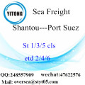 Shantou Port LCL Consolidation To Port Suez