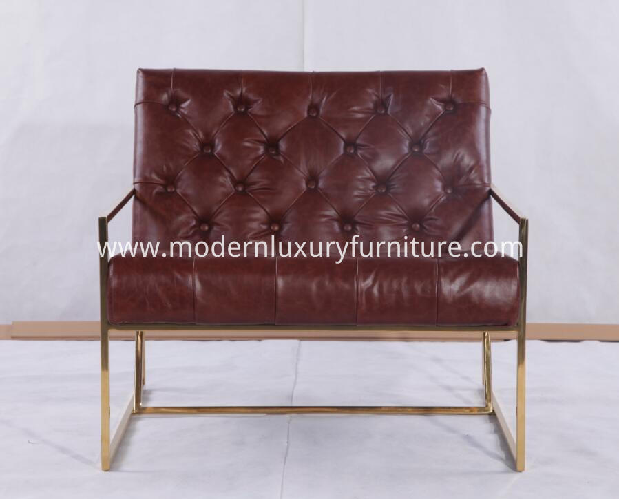 Tufted Metal Lounge Chairs