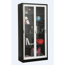Glass silding door storage cupboard
