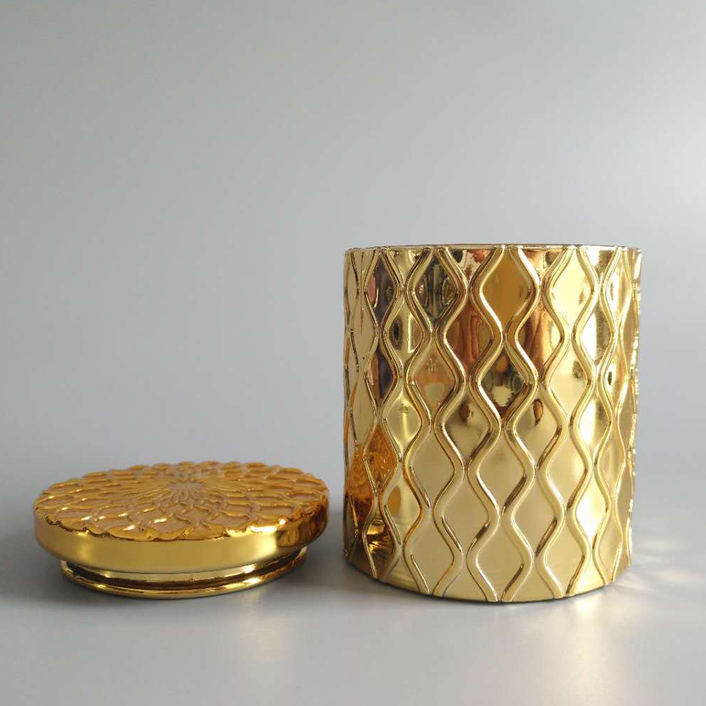 Airtight Gold Glass Candle Jar1