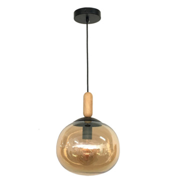 E27 lamp holder glass morden pendant lamp