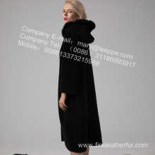 Reversible Women Australia Merino Shearling Coat Winter
