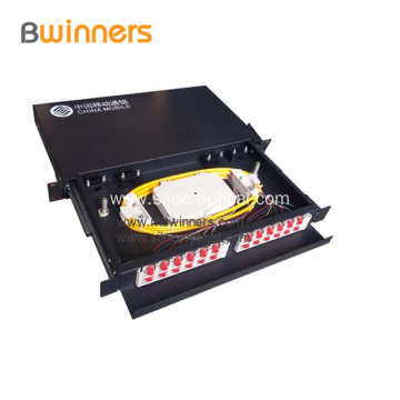 Sliding Rack Mounted Fiber Optic Terminal Box Patch Panel