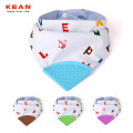 Anti-bacterial healthy baby teething bibs