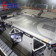 Basketball DIY Modular Court Tiles PP Sports Flooring