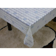 Printed pvc lace tablecloth by roll flatten