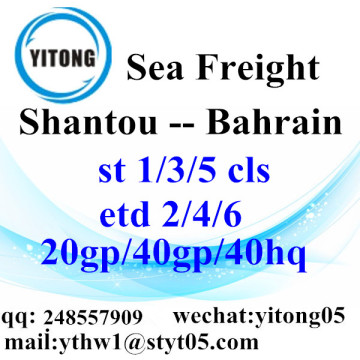 Shantou Sea Freight Shipping Agent to Bahrain