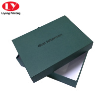 Big apparel box with black logo shoe box