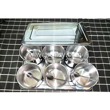 6/8 Pcs Set Kitchen Stainless Steel Seasoning Jar
