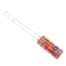 barbecue grill basket with long handle