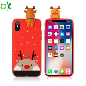 New Fashion Christmas Silicone Phone Case for Sale