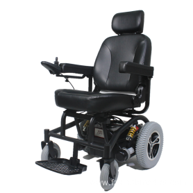 Wheelchair with shock absorber seat