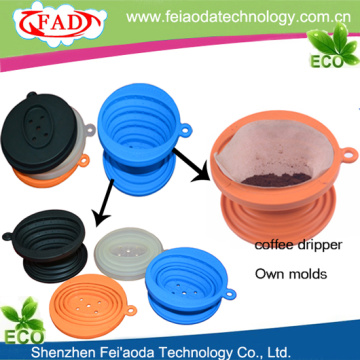 Best quality and factory for Silicone Coffee Filter,Cone Drip Coffee Filter,Single Cup Coffee Filter Favored Hanging Ear Collapsible Silicone Coffe Filter Cone export to South Africa Exporter