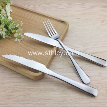 Round Head Stainless Steel Steak Cutlery Set