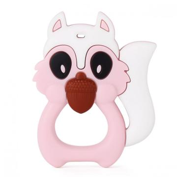 Squirrel silicone baby teething toys
