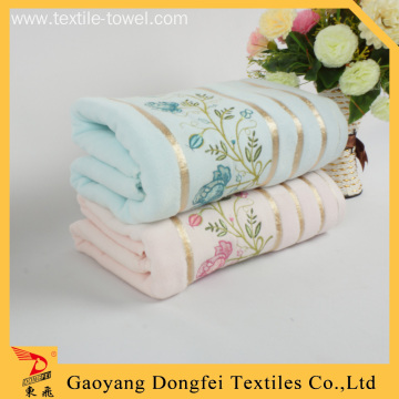 Blue Peony Customized Embroidered Bath Towels