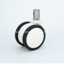 5 Inch Solid Stem Swivel PU Material Medical Caster