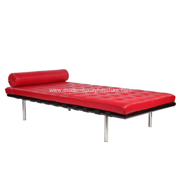Red Barcelona Leather Daybed Replica