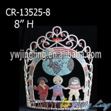 "8"" Big Custom Pageant Princess Crown For Girls"