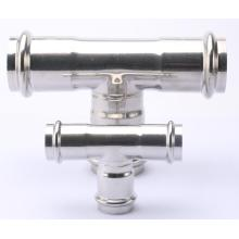 V Profile Stainless Steel Tee Press Pipe Fitting