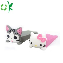 Cartoon Design Silicone Door Stopper Wedge for Baby