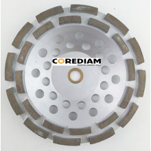 Hot sale for China Double Row Grinding Cup Wheel, Double Row Abrasive Cup Wheel, Double Row Abrasive Wheels, Double Row Diamond Cup Wheel 180mm Double Row Grinding Cup Wheel export to Iraq Manufacturer