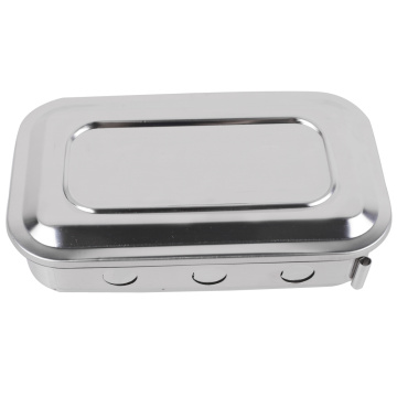 Medical Stainless steel instrument tray with lid product