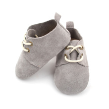 High reputation for Hot Fashion Styles Cute Fancy Baby Oxford Shoes | Babyshoes.cc Real Suede Leather Grey Baby Oxford Shoes Wholesale supply to Japan Manufacturers