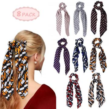Hair Scrunchies Hair Scarf Hair Satin Ponytail Holder