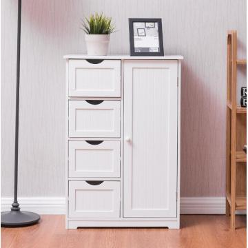 Top for Bathroom Cabinet Tall White Bathroom Storage Towel Cabinet supply to Spain Supplier