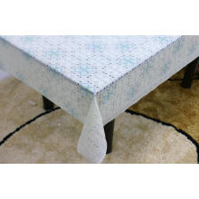 Printed pvc lace tablecloth by roll wholesale