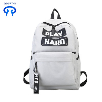 Fashion trend canvas travel backpack British computer bag