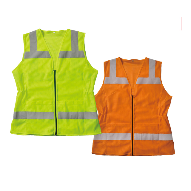 Safety vest with elastic at the waist
