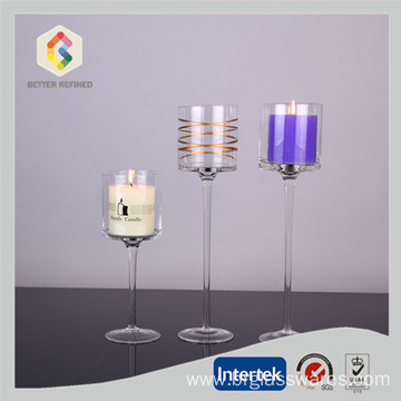Factory Free sample for Glass Pillar Holders Glass Hurricane Candle Holders Wholesale supply to Nauru Manufacturers
