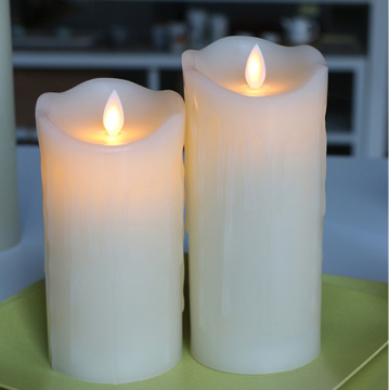 customised moving flame LED Candles as wedding gifts