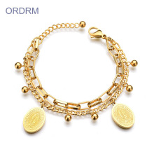 Wholesale Gold Virgin Mary Bracelet For Guys