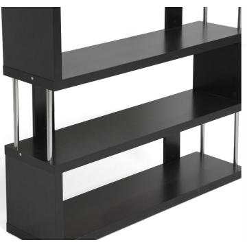 Black Ladder Metal Bookcase wooden shelf