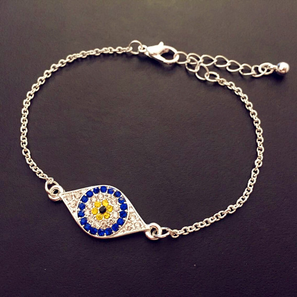 Adjustable Jewelry Multicolor Evil Eye Bracelet