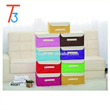 3 pieces Non Woven foldable Storage Boxes bins & cheap storage bins locker with cover