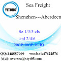 Shenzhen Port Sea Freight Shipping To Aberdeen