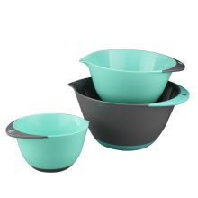3 Piece Plastic Mixing Bowl Set