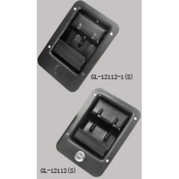 Flush recessed paddle handle latch lock