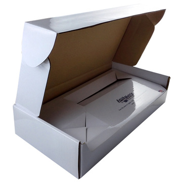 Cut Rectangular Flip Paper White Corrugated Mail Box