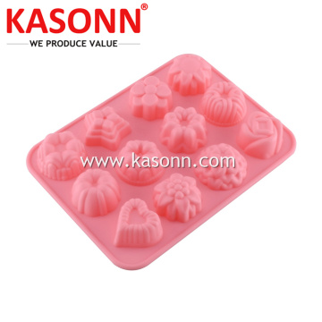 12 Cavity Mini silikon gula-gula Chocolate Ice Mold