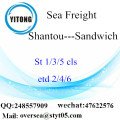 Shantou Port LCL Consolidation To Sandwich