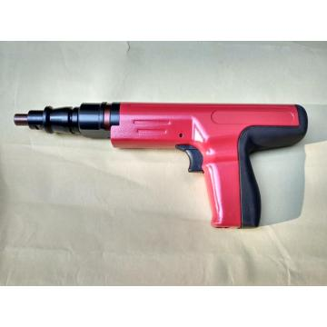 Semi-automatic powder actuated tool for fastening single