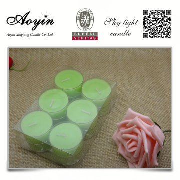 Fragrance soy wax tealight candle