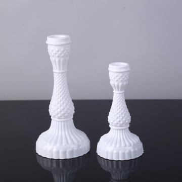 Glass Diamond Candlestick Holder