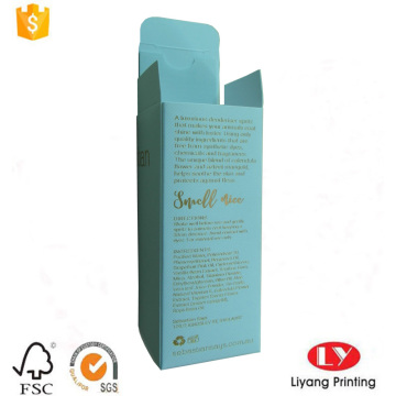 Cheap uncoated paper box with gold stamping